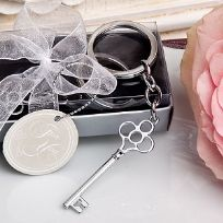 Charming Key Themed Key Ring Favours